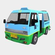 Angkot - Indonesian City Transport Vehicle 3d model
