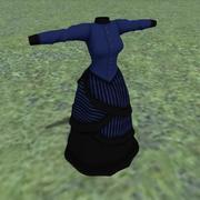 Robe asymétrique victorienne 3d model
