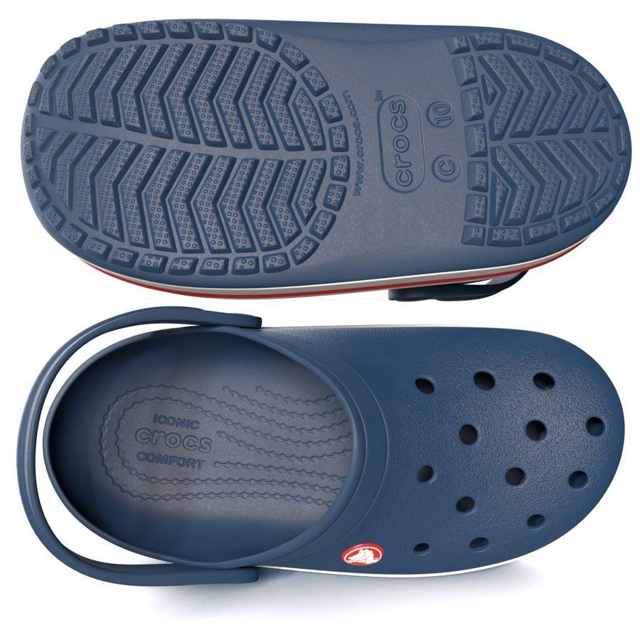 Crocs Crosband Clog royalty-free 3d model - Preview no. 4