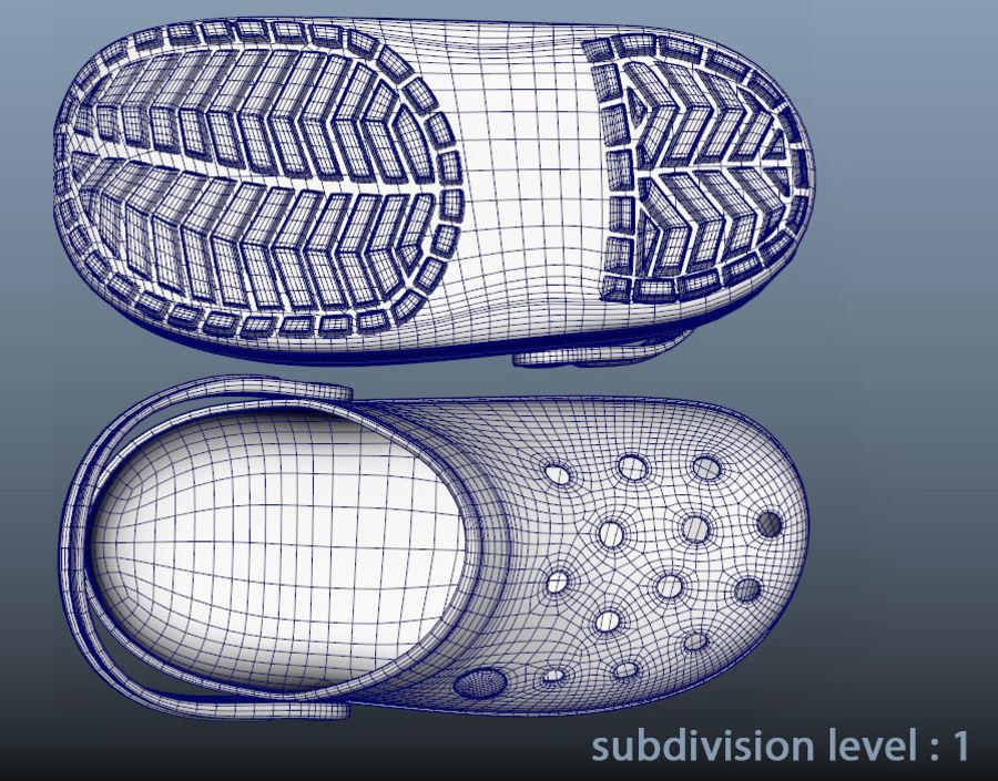 Crocs Crosband Clog royalty-free 3d model - Preview no. 8