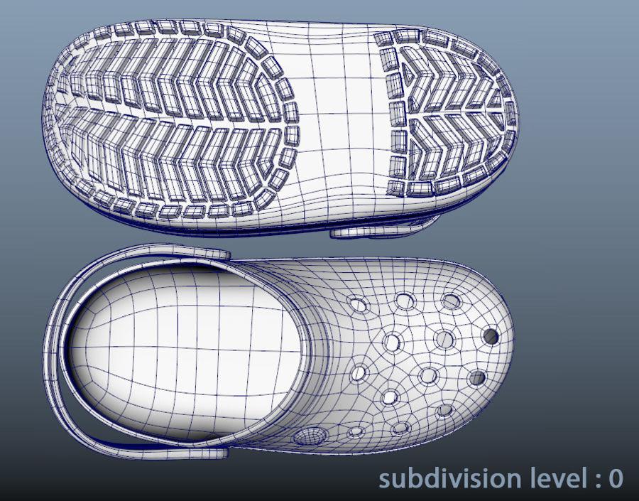 Crocs Crosband Clog royalty-free 3d model - Preview no. 7