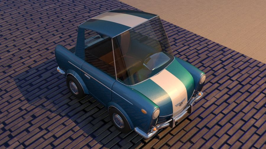 Sport Toon Car royalty-free 3d model - Preview no. 20