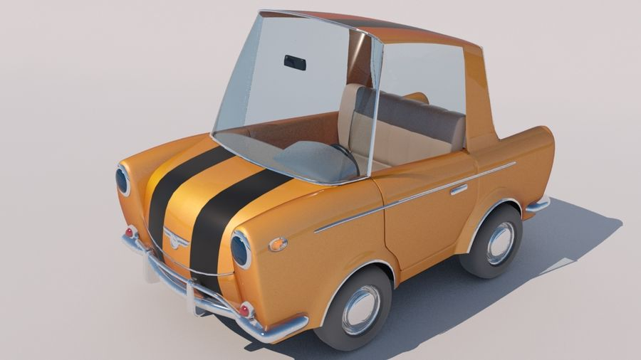 Sport Toon Car royalty-free 3d model - Preview no. 3