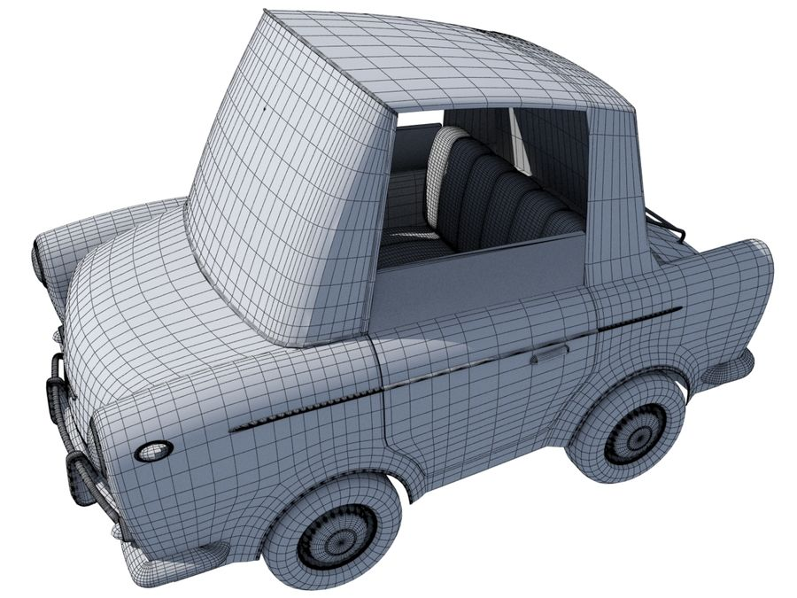 Sport Toon Car royalty-free 3d model - Preview no. 16