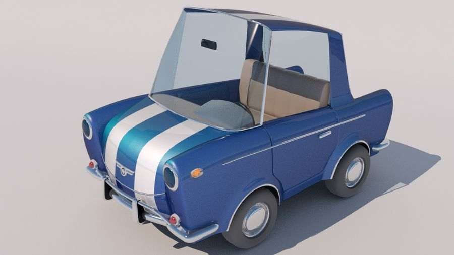 Sport Toon Car royalty-free 3d model - Preview no. 9