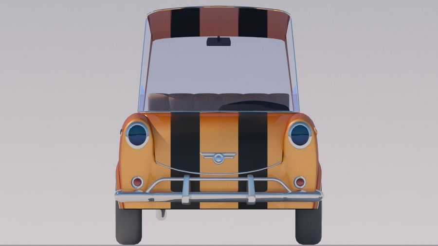 Sport Toon Car royalty-free 3d model - Preview no. 5
