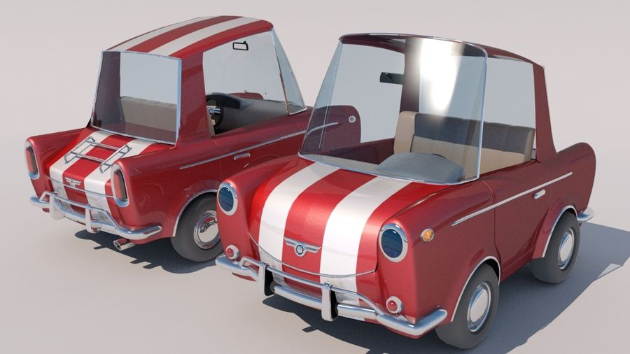 Sport Toon Car royalty-free 3d model - Preview no. 1