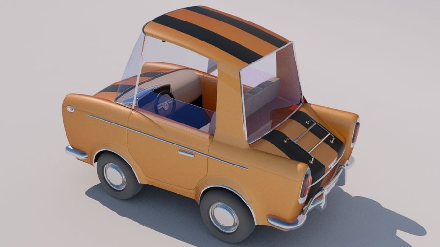Sport Toon Car royalty-free 3d model - Preview no. 11