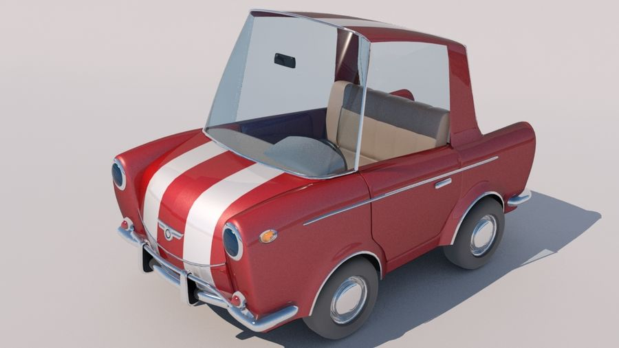 Sport Toon Car royalty-free 3d model - Preview no. 8