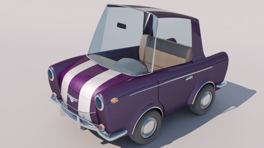 Sport Toon Car royalty-free 3d model - Preview no. 10