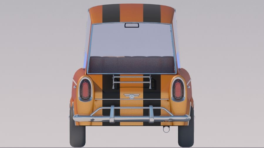 Sport Toon Car royalty-free 3d model - Preview no. 6