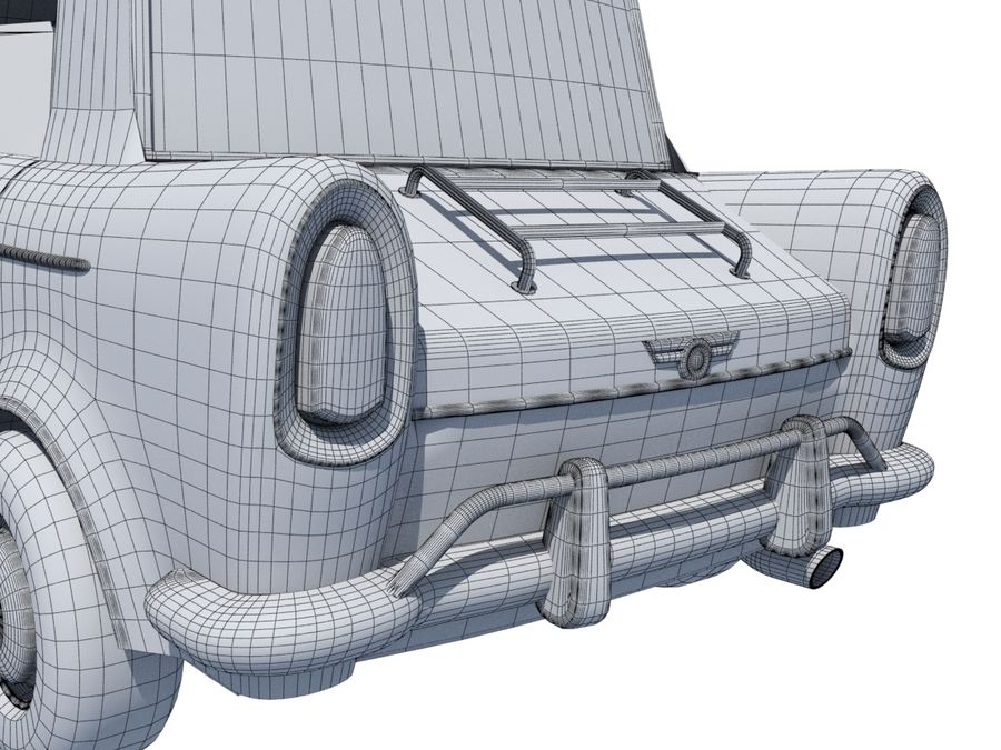 Sport Toon Car royalty-free 3d model - Preview no. 18