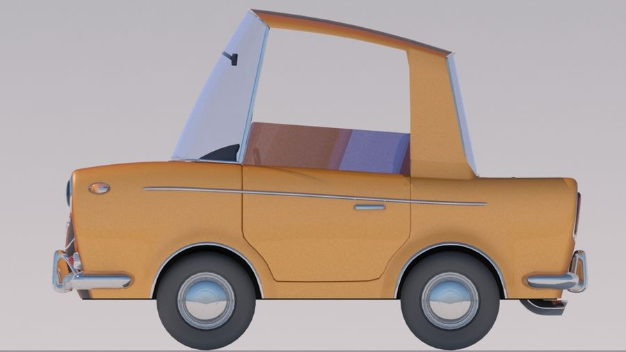 Sport Toon Car royalty-free 3d model - Preview no. 4