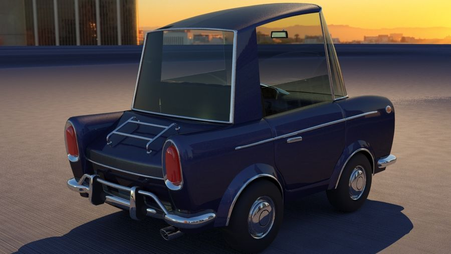 Sport Toon Car royalty-free 3d model - Preview no. 22