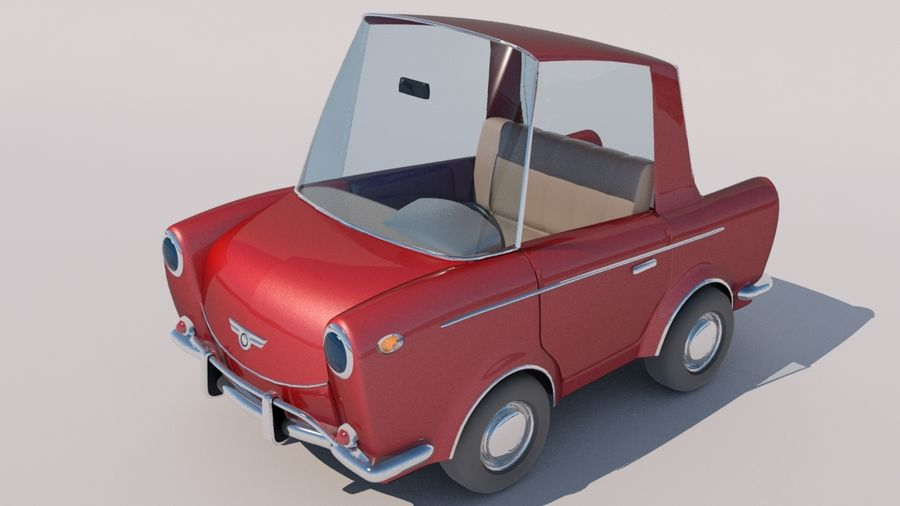 Sport Toon Car royalty-free 3d model - Preview no. 7