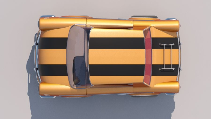 Sport Toon Car royalty-free 3d model - Preview no. 2