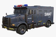 Camión Swat modelo 3d