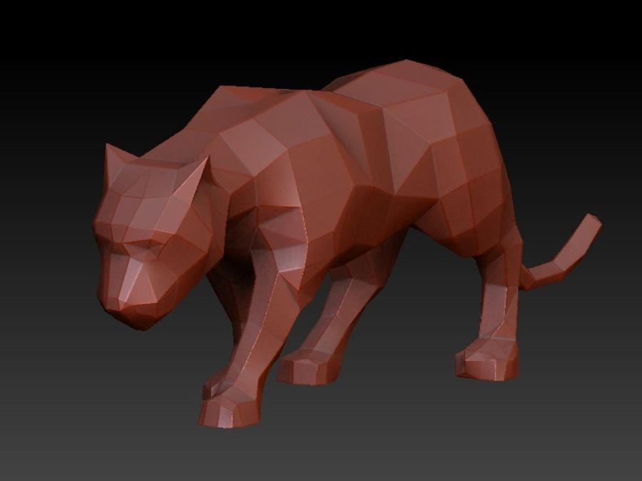 bild Origami-Panther 48 x 15 cm Polyresin weiß - Kaufen bei Bastel ... | 675x900