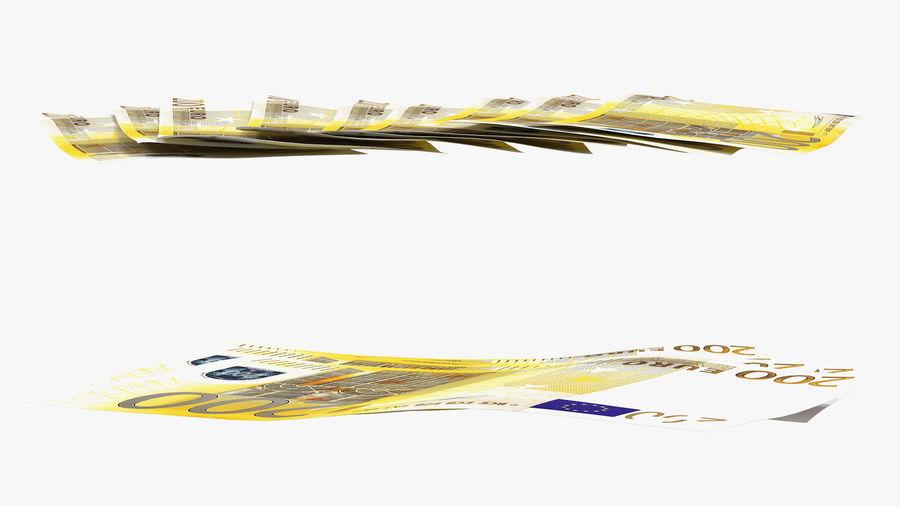 Paper Banknotes Euro 200 Bundle royalty-free 3d model - Preview no. 7
