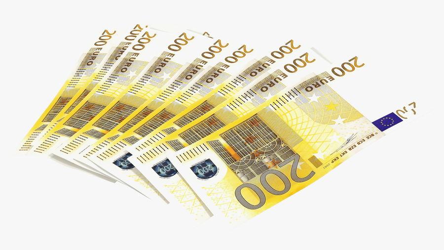 Paper Banknotes Euro 200 Bundle royalty-free 3d model - Preview no. 13