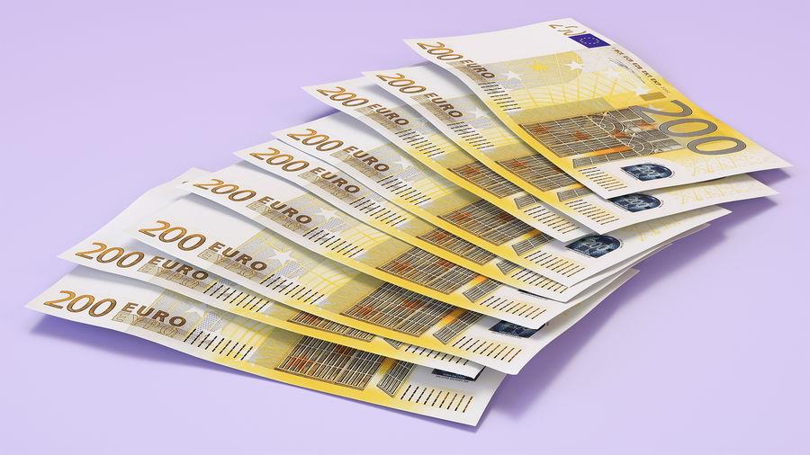 Paper Banknotes Euro 200 Bundle royalty-free 3d model - Preview no. 4