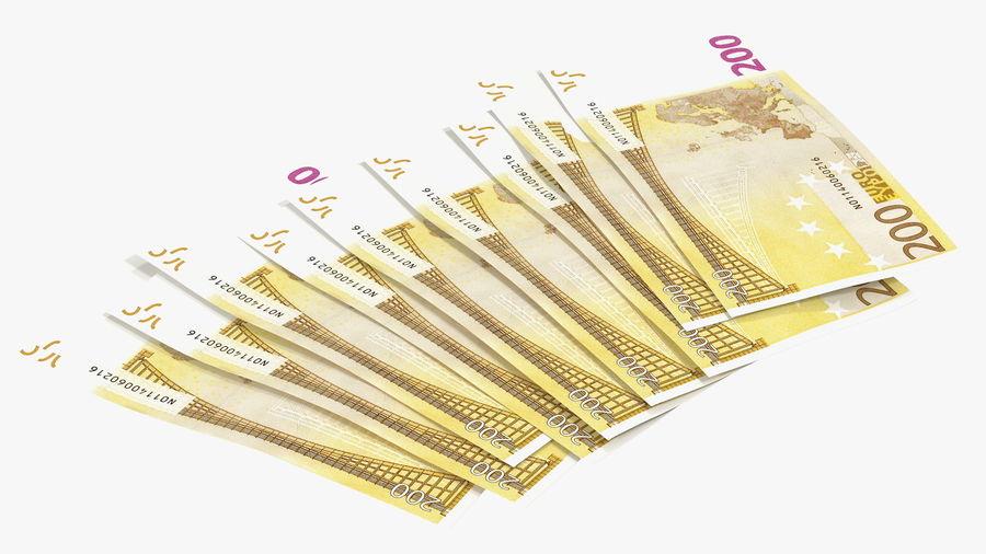Paper Banknotes Euro 200 Bundle royalty-free 3d model - Preview no. 12