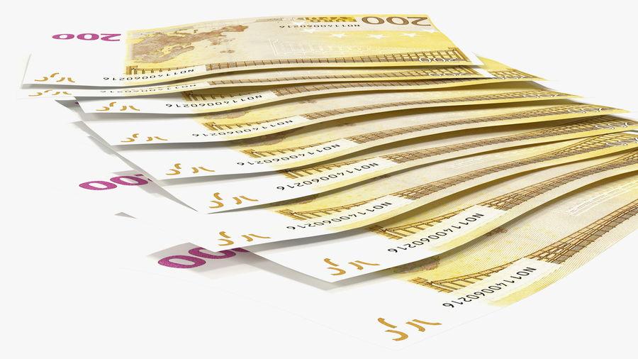 Paper Banknotes Euro 200 Bundle royalty-free 3d model - Preview no. 10