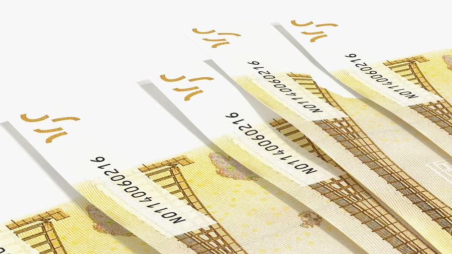 Paper Banknotes Euro 200 Bundle royalty-free 3d model - Preview no. 11