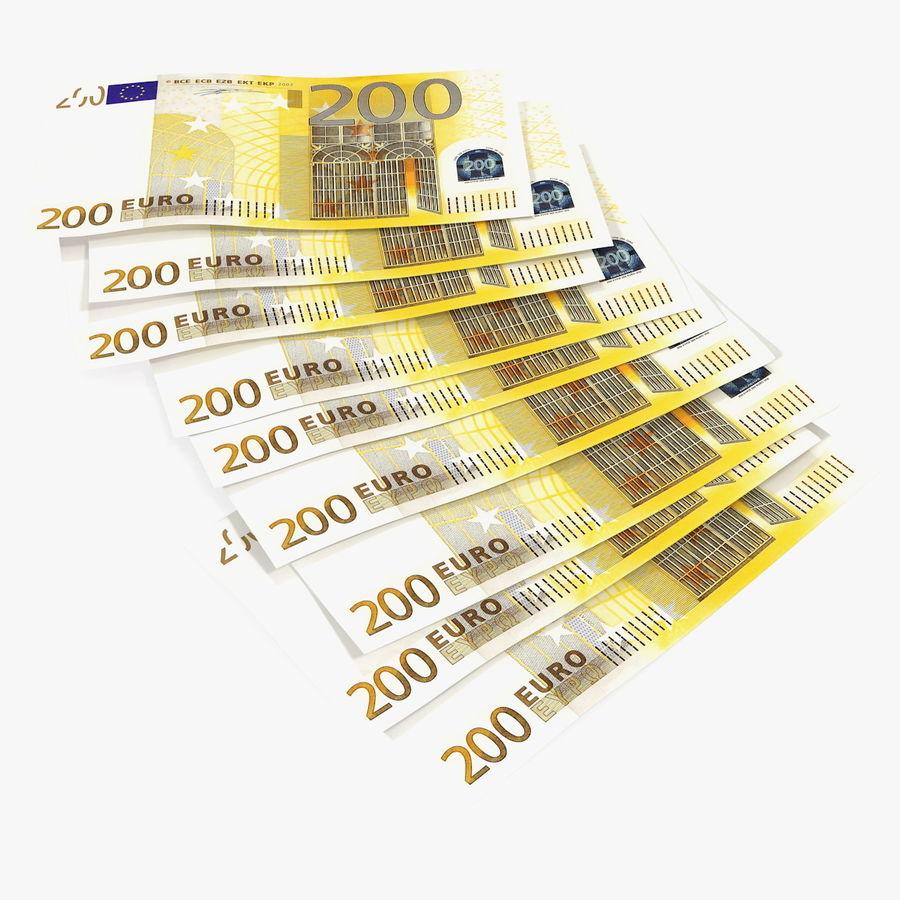 Paper Banknotes Euro 200 Bundle royalty-free 3d model - Preview no. 1