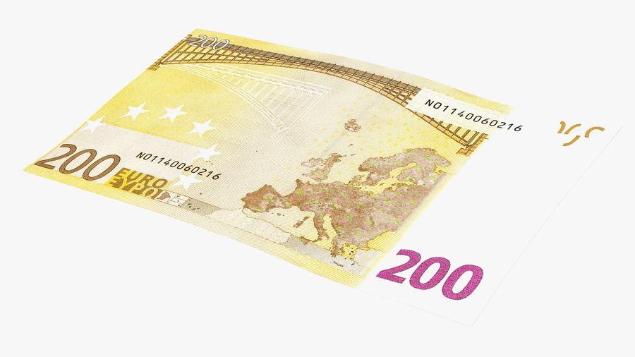 Paper Banknotes Euro 200 Bundle royalty-free 3d model - Preview no. 15