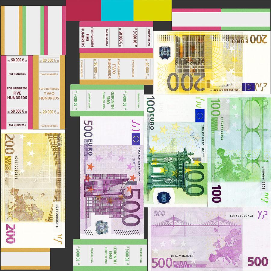 Paper Banknotes Euro 200 Bundle royalty-free 3d model - Preview no. 18