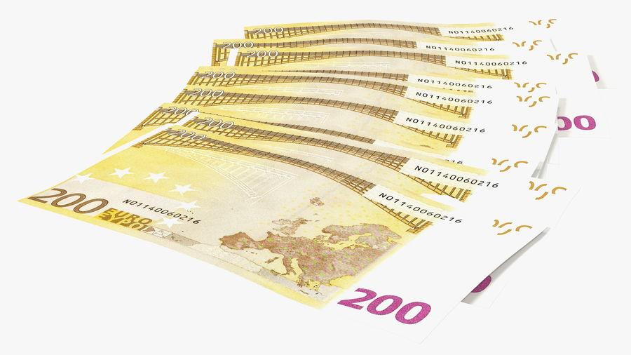 Paper Banknotes Euro 200 Bundle royalty-free 3d model - Preview no. 9
