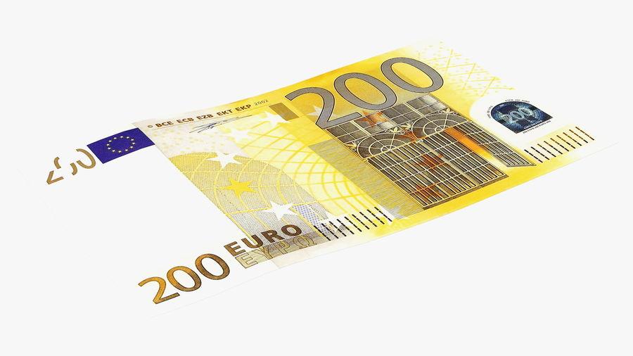 Paper Banknotes Euro 200 Bundle royalty-free 3d model - Preview no. 14