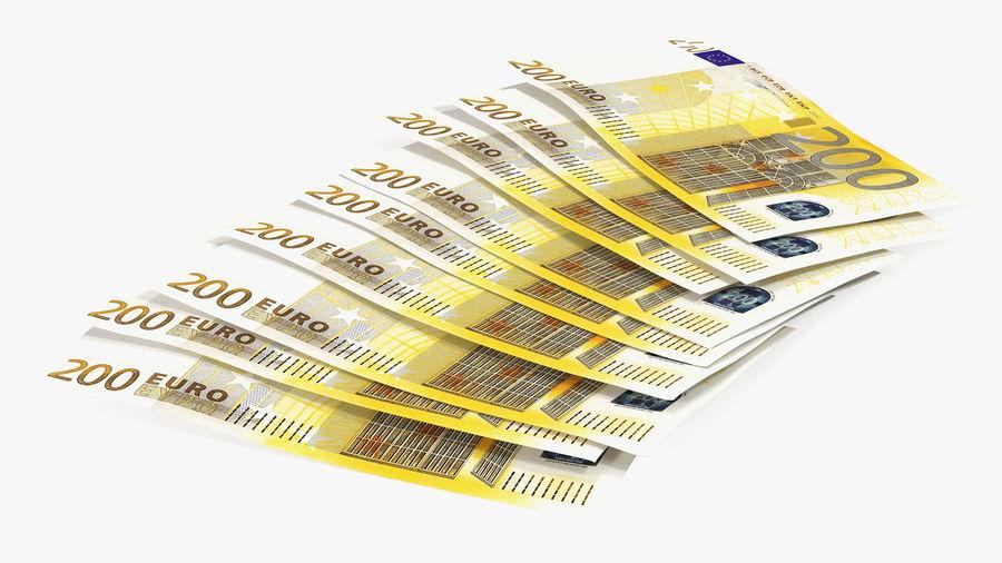 Paper Banknotes Euro 200 Bundle royalty-free 3d model - Preview no. 6