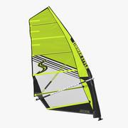 Windsurf Mast Sail and Boom 3d model