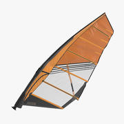 Sport Windsurf Mast and Sail 3d model