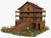 Western Wood House 3d model