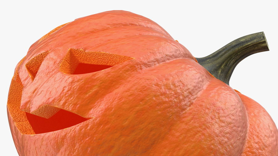Scary Halloween Pumpkin royalty-free 3d model - Preview no. 11