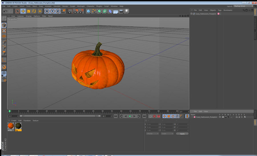 Scary Halloween Pumpkin royalty-free 3d model - Preview no. 18