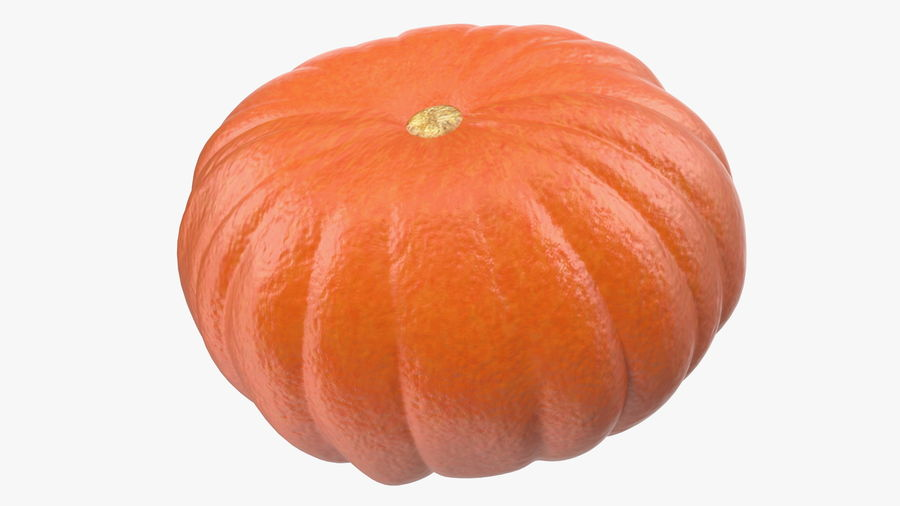 Scary Halloween Pumpkin royalty-free 3d model - Preview no. 9