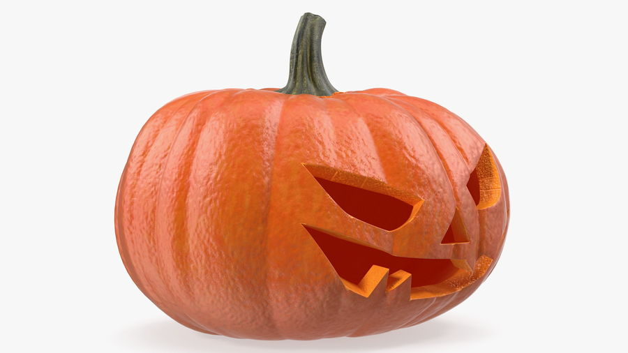 Scary Halloween Pumpkin royalty-free 3d model - Preview no. 12