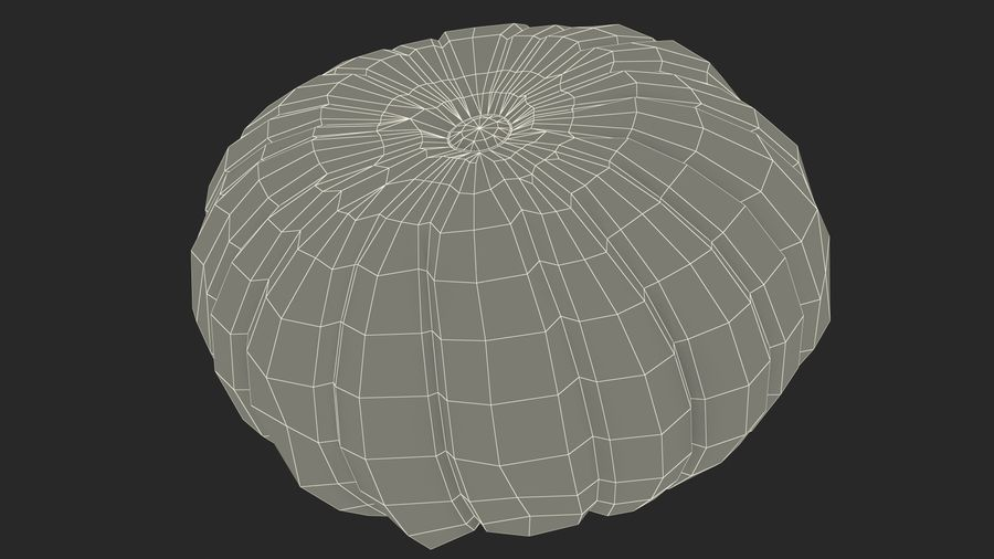 Scary Halloween Pumpkin royalty-free 3d model - Preview no. 21