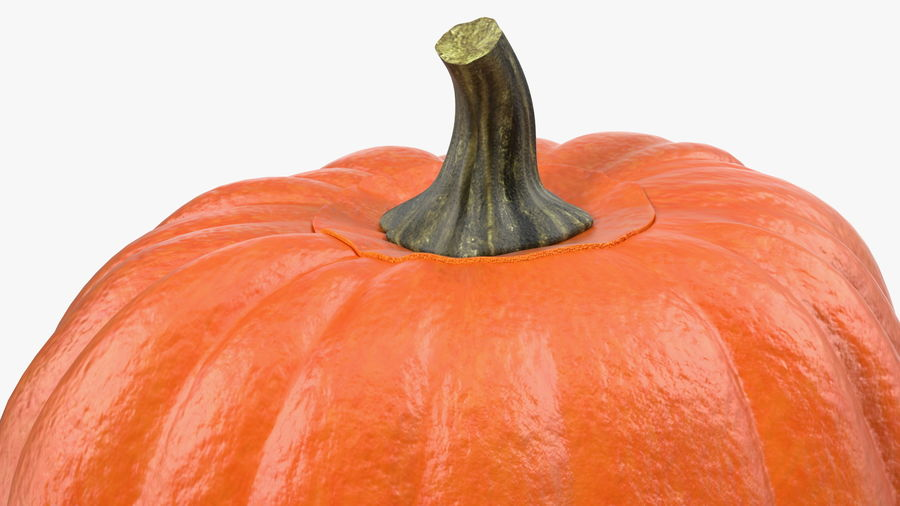 Scary Halloween Pumpkin royalty-free 3d model - Preview no. 8