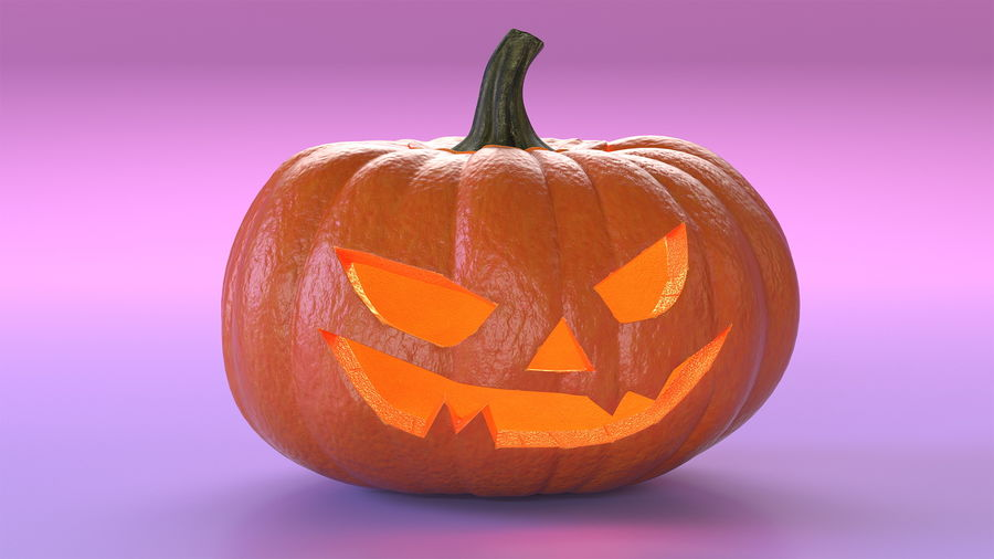 Scary Halloween Pumpkin royalty-free 3d model - Preview no. 5