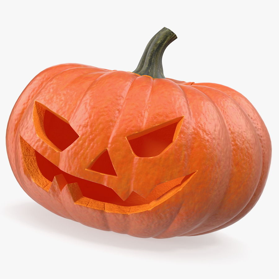 Scary Halloween Pumpkin royalty-free 3d model - Preview no. 1