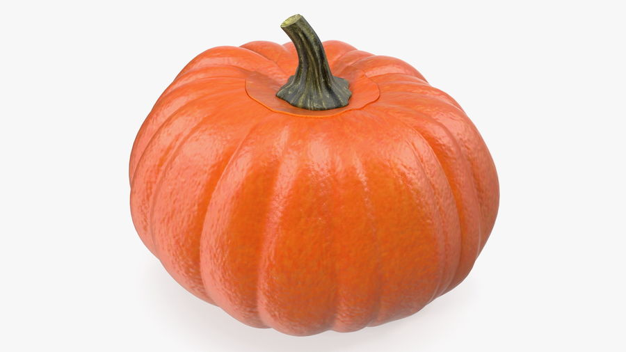 Scary Halloween Pumpkin royalty-free 3d model - Preview no. 7