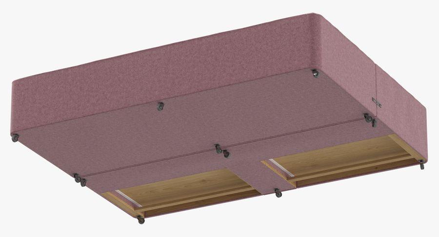 Bed Base 01 Blush(1) royalty-free 3d model - Preview no. 8