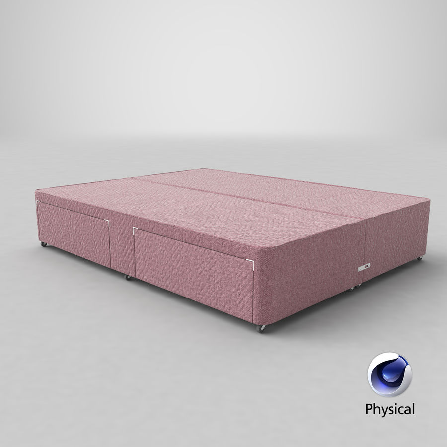 Bed Base 01 Blush(1) royalty-free 3d model - Preview no. 21