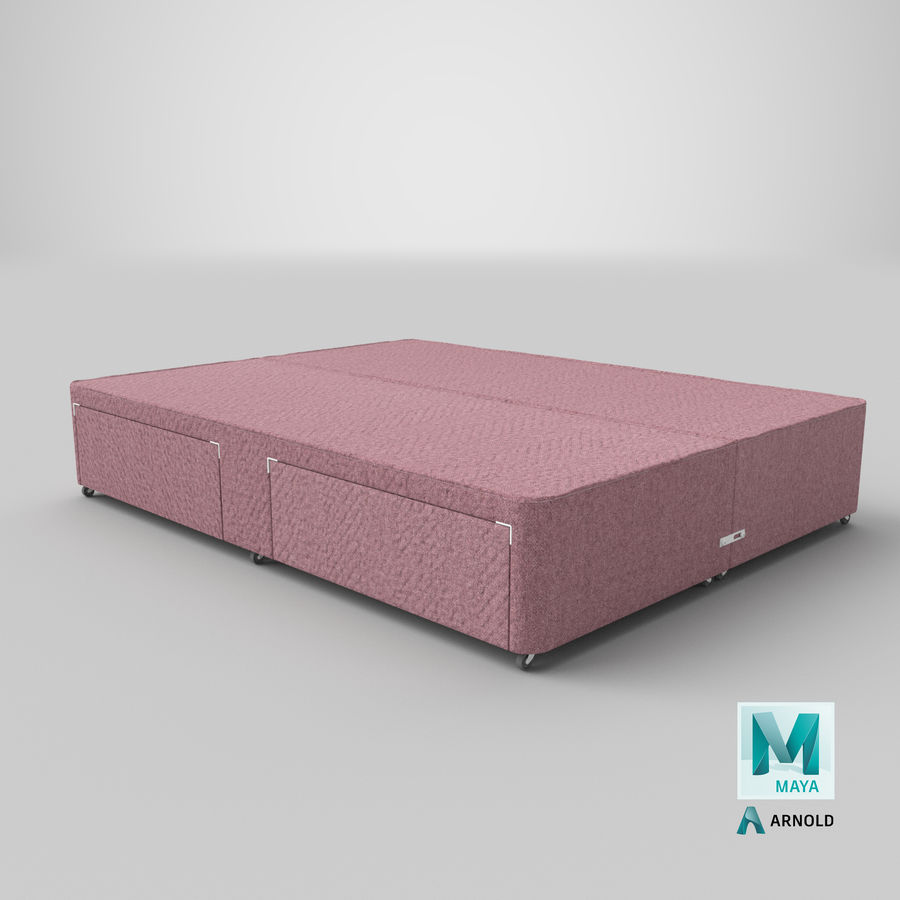 Bed Base 01 Blush(1) royalty-free 3d model - Preview no. 26