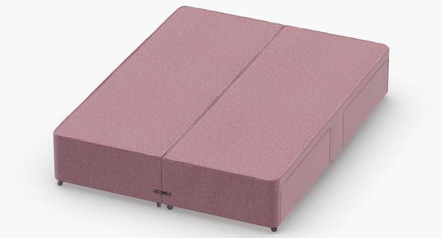 Bed Base 01 Blush1 royalty-free 3d model - Preview no. 4